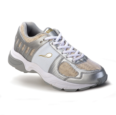 Ballistic Women's White/Gold Sports Sneaker