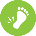 Green Plantar Fasciitis Icon