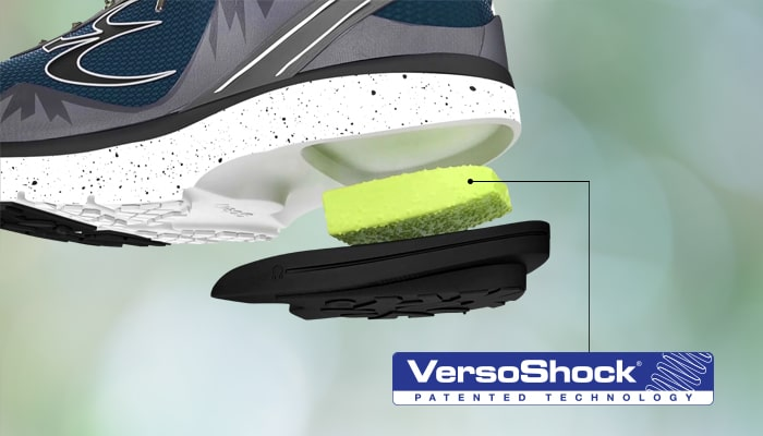 Mighty Walk Shoe Displays VersoShock Technology