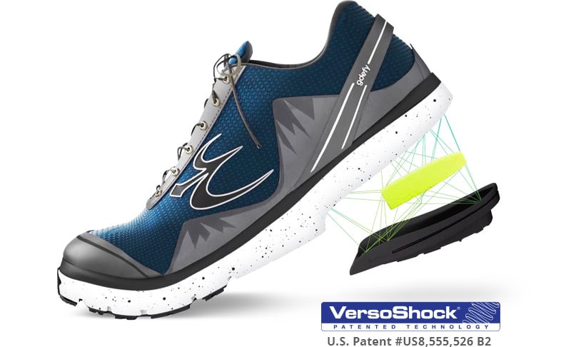 Gray Mighty Walk Shoe Displays VersoShock Technology