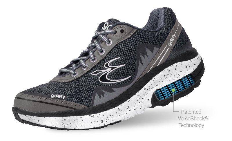 Gray Mighty Walk Shoe Displays VersoShock Technology