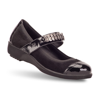 Black Women's Aurelia Flats