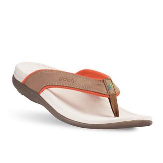 womens Lynetta brown blue sandals-2