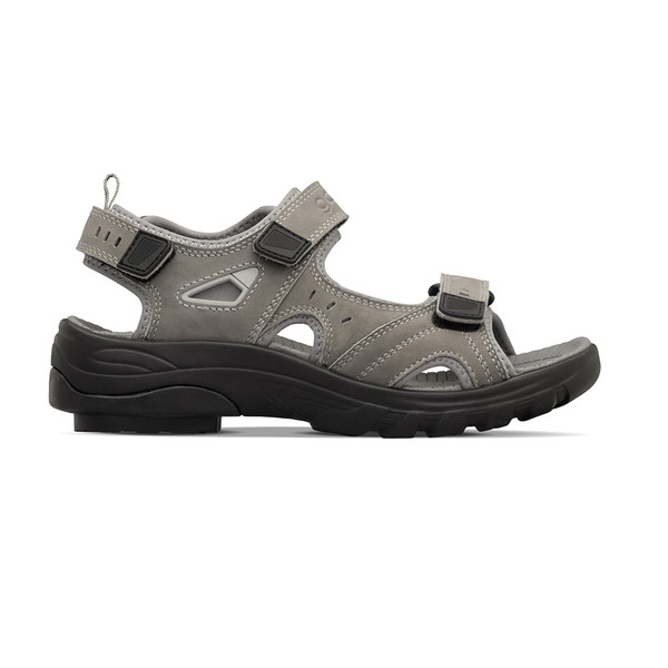 womens Sunset gray sandals angle-2