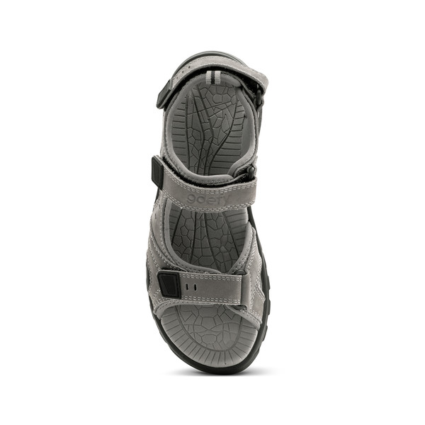 womens Sunset gray sandals angle-4