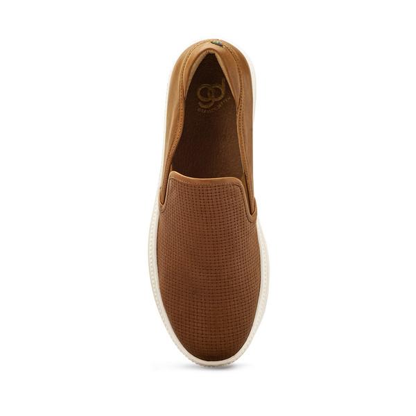womens Ashanti brown flats angle-4
