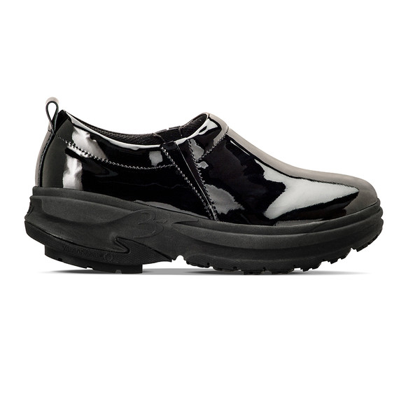 womens Emma black clogs angle-2