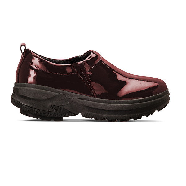 womens Emma burgandy clogs angle-2