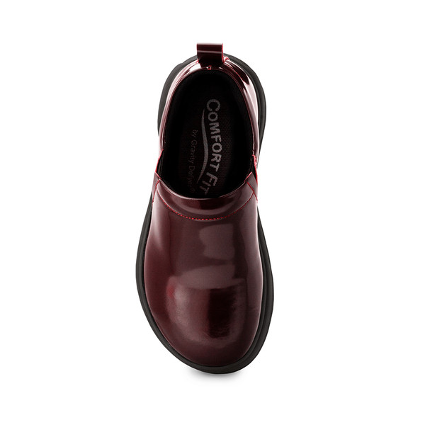 womens Emma burgandy clogs angle-4
