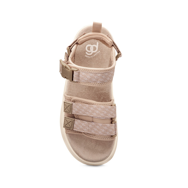 women's Cafe tan sandals angle-4