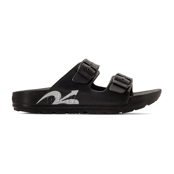photo of women's upbov black sandals angle -2