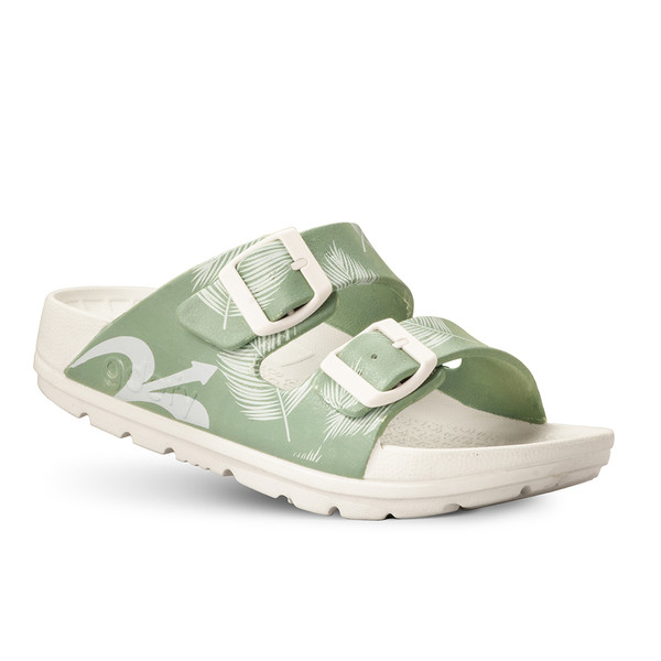 photo of women's upbov white-green sandals angle