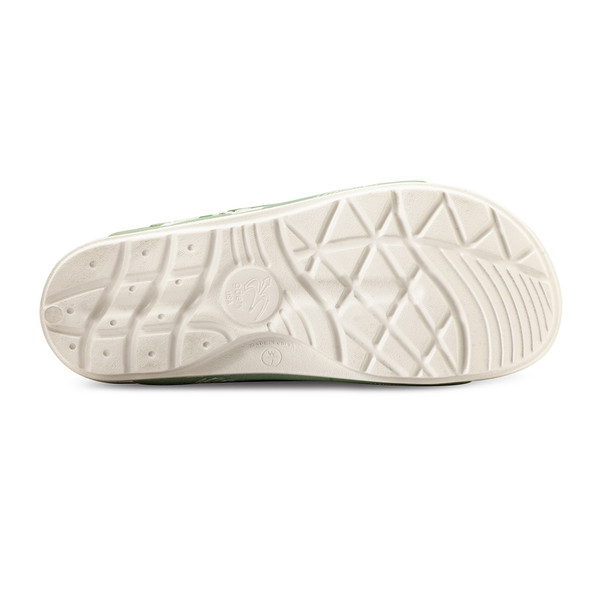 photo of women's upbov white-green sandals angle -3