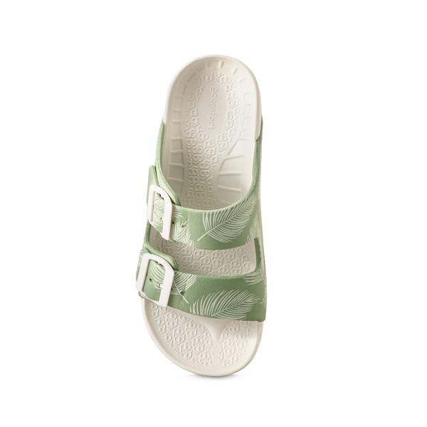 photo of women's upbov white-green sandals angle -4