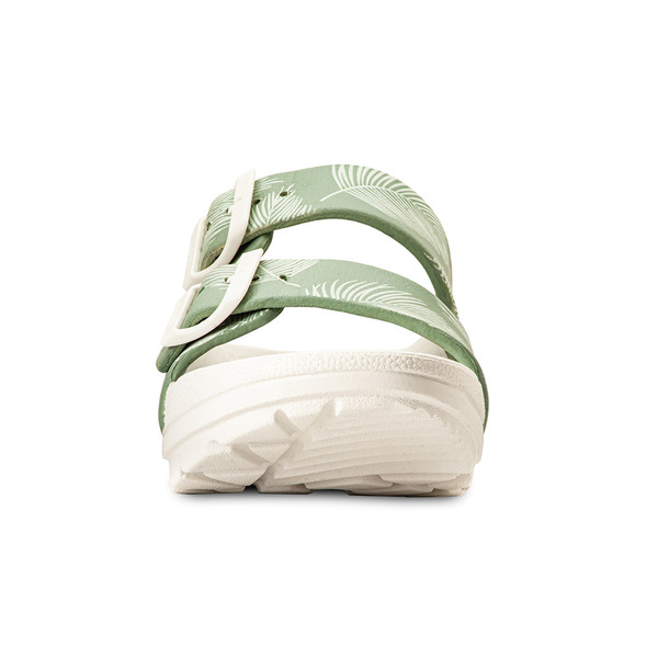 photo of women's upbov white-green sandals angle -5
