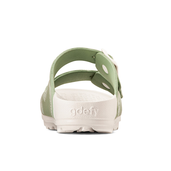 photo of women's upbov white-green sandals angle -6