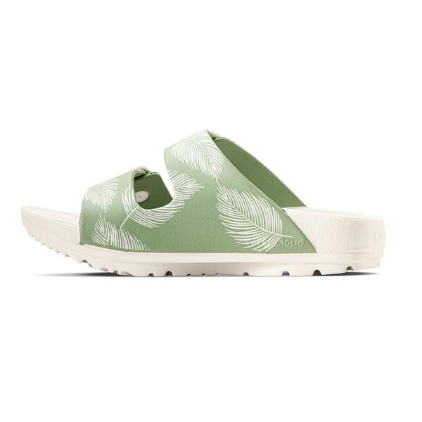 photo of women's upbov white-green sandals angle -7