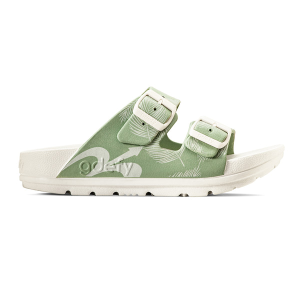 photo of women's upbov white-green sandals angle -2