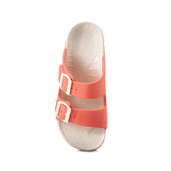 photo of women's upbov white-peach sandals angle -4