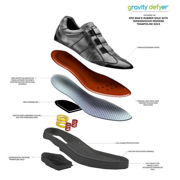 Black Men's Raddley Casual Shoes -0