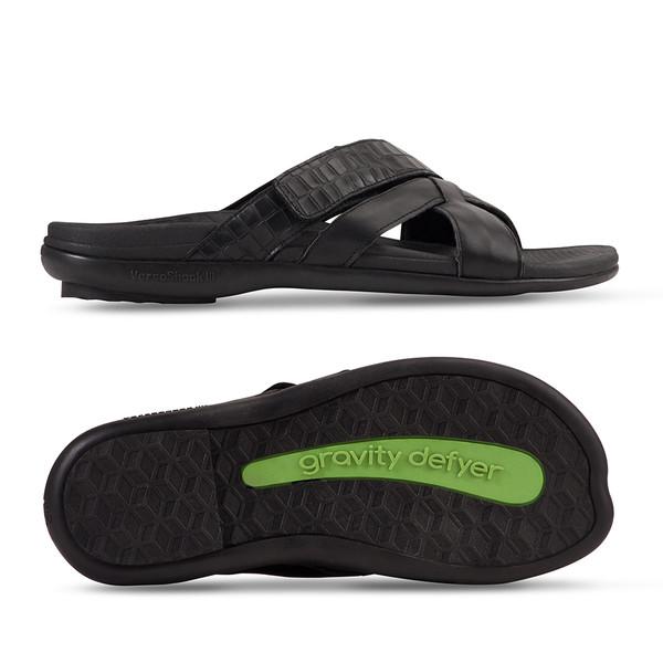 mens Lewis black sandals-3