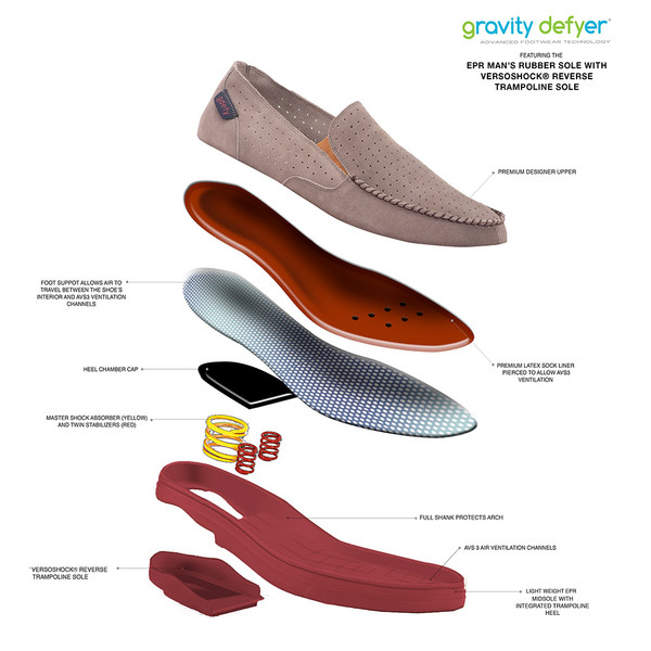 GrayRed Men's Carmel Casual Shoes