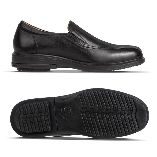 mens Torin black leather loafer-2