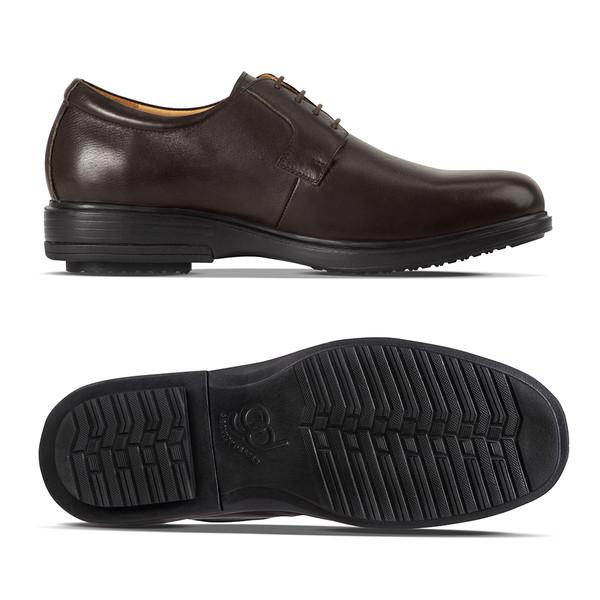 mens Hans brown loafer angle-2