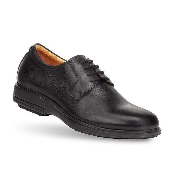 men's Hans black loafer angle-2