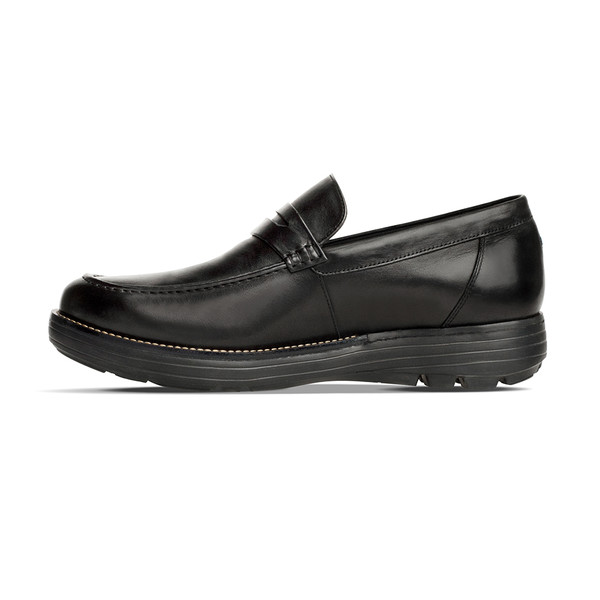 men's Heartwood black shoe Angle-7