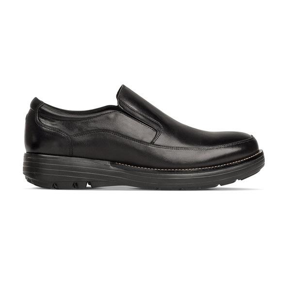 men's Centric black loafer angle-2