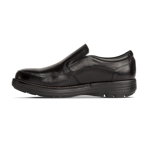 men's Centric black loafer angle-7