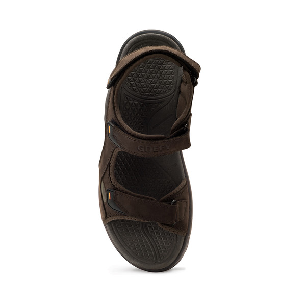 mens Outpost black sandals angle-4
