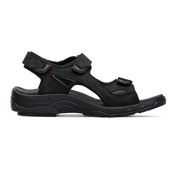 mens Outpost black sandals angle-2