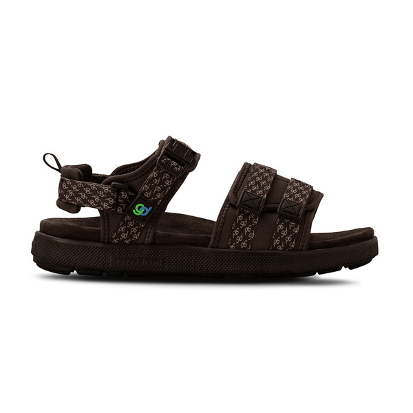 men's Cafe brown sandals angle-2