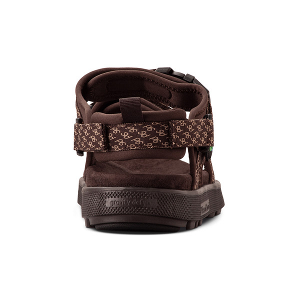 men's Cafe brown sandals angle-6