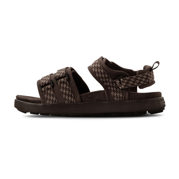 men's Cafe brown sandals angle-7