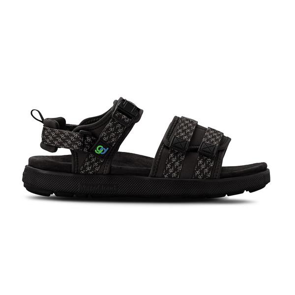 men's Cafe black sandals angle-2