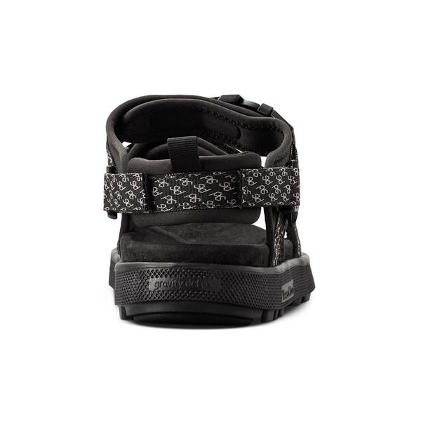 en's Cafe black sandals angle-6