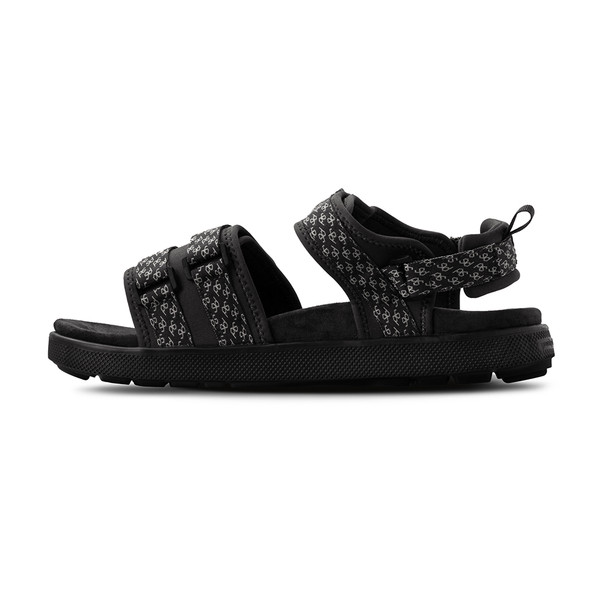 men's Cafe black sandals angle-7