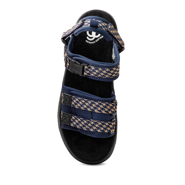 mens blue and yellow sandal angle-4