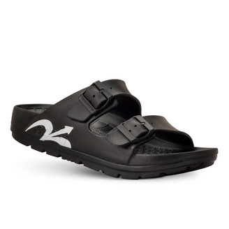 photo of men's upbov black sandals angle