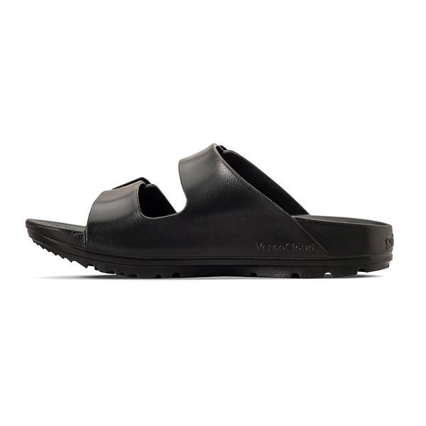 photo of men's upbov black sandals angle -7