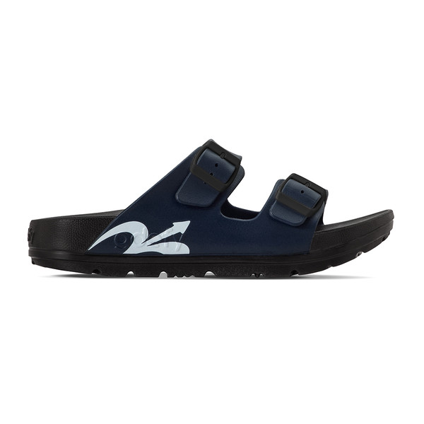 mens black and blue sandals angle-2