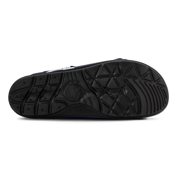 mens black and blue sandals angle-3