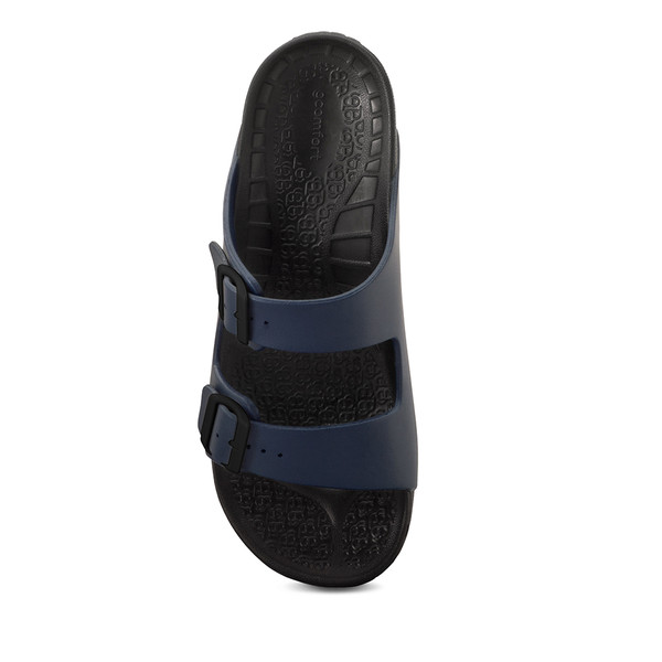 mens black and blue sandals angle-4