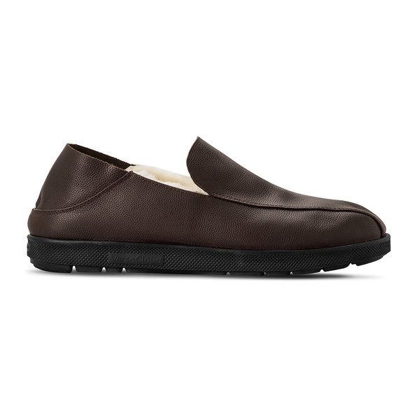 mens's brown Salazar slippers-2