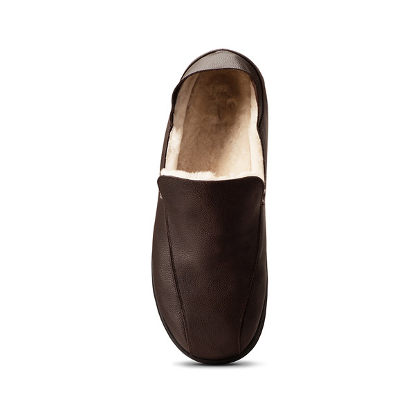 mens's brown Salazar slippers-4