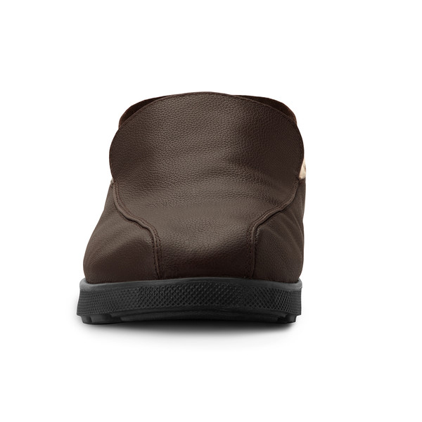 mens's brown Salazar slippers-5