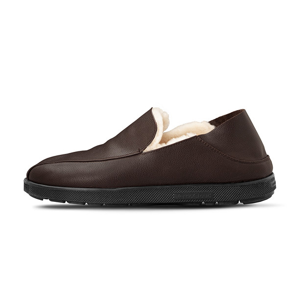 mens's brown Salazar slippers-7